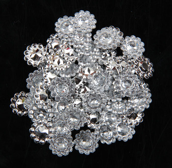 2000pcs/lot 11mm Remediere rapidă Bling Acrilice Pointback Stras Butoane Artificiale Decorative din Plastic Cristal Strass Margele