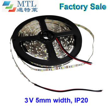 3V 60LED/M, o luminozitate ridicată, 5MM latime PCB 3528 banda LED, banda led, 50M/lot, IP20, 2 ani garanție, Fabrica de en-Gros