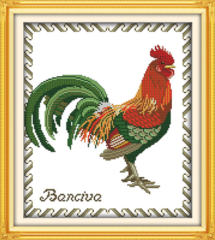 Big cock (3) cross stitch kit animal pasăre x împletit aida 14ct 11ct conta imprimare panza broderie manual DIY manual