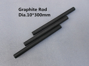 Dia.10*300mm grafit se amestecă rod , cilindru de grafit bar de aur de topire cu creuzet ,TRANSPORT GRATUIT 2 buc