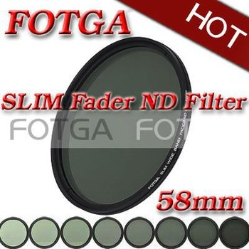 FOTGA 58mm 58 Slim fader filtru ND variabil reglabil de densitate neutră ND2 la ND400
