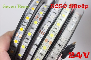 IP20/65 DC24V benzi cu led-uri 5050 24v SMD 5M 300led 60led/M white/Warm white/RGB flexibile cu led-uri panglică impermeabil interior decoartion