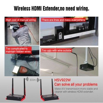 MiraBox Wireless IR Extender HDMI Suport Wireless Extender 200m 300m 984ft 1080P FULL HD Wifi Extender HDMI Video
