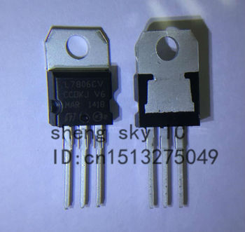 TRANSPORT GRATUIT 50PCS L7806CV L7806 LM7806 7806 TO220 SĂ-220 Regulator de Tensiune IC 6V
